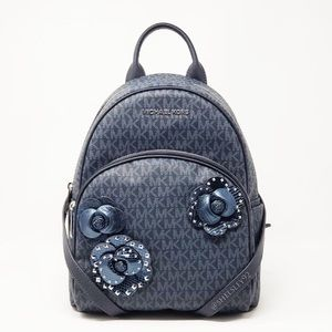 Michael Kors Blue Abbey Backpack